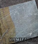 Kwarcyt zielono brązowy płyta 30 cm, różne długości