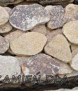 Oval step granit żółty